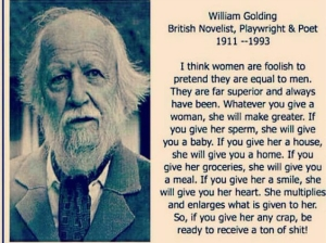 William golding on women